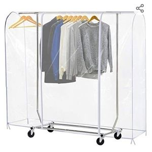 Ruibo Clear Garment Rack Cover Large 71x20x60 in